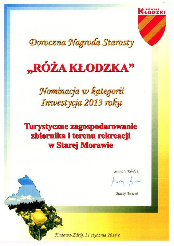 Róza Kłodzka za 2013 Zalew.jpeg