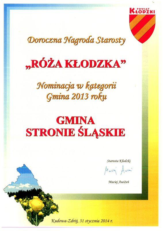Róza Kłodzka za 2013 Gmina.jpeg