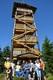 Wieża widokowa na Czernicy (1083 m n.p.m.) w Górach Bialskich.