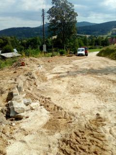 Galeria I Fotorelacja z budowy kolektora sanitarnego Kletno - Stara Morawa
