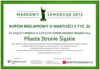 Galeria Markowy Samorząd - nagrody